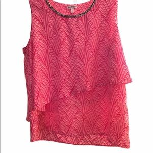 Juicy Couture Large Pink Sleeveless Blouse